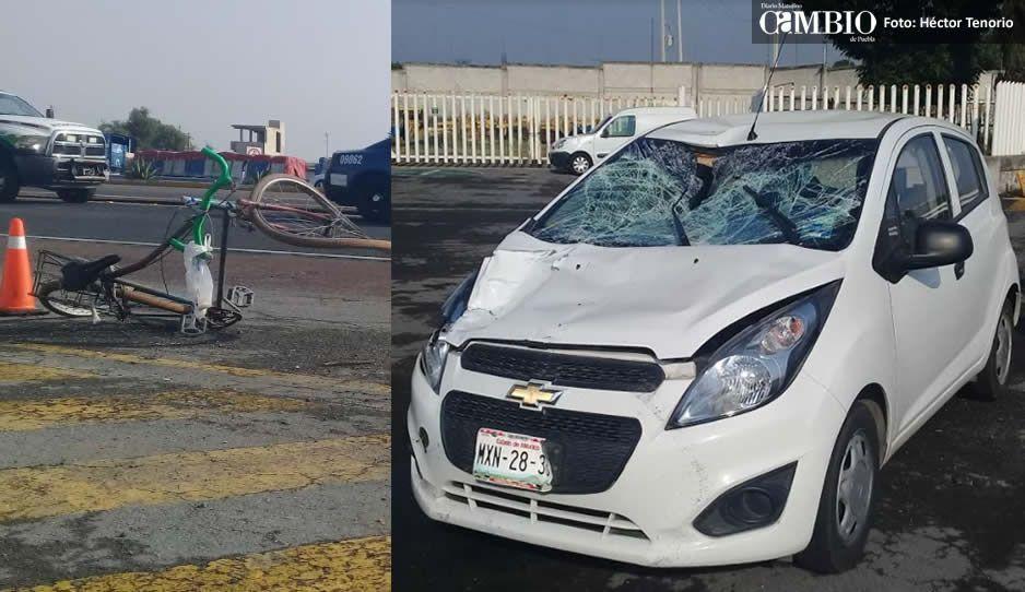 ¡Otro ciclista atropellado! muere tras impacto brutal en la México-Puebla