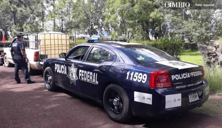 PF detiene dos unidades con reporte de robo ligadas al trasiego de combustible en Huejotzingo