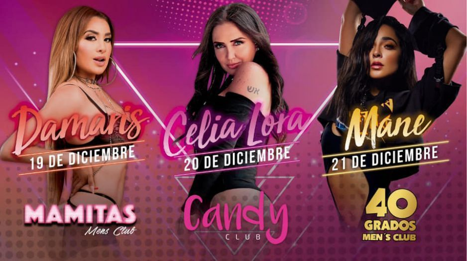 ¡Adiós aguinaldo! 3 días seguidos de sexo y lujuria se vienen en Puebla con Damaris, Celia Lora y Mane (VIDEO)
