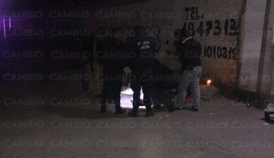 Rafaguean a tres hombres en Texmelucan, uno de ellos murió en el lugar