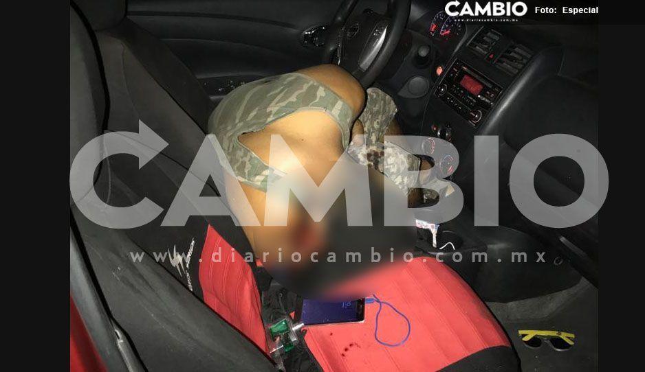 Lo asesinan y abandonan en su propio automóvil en Huaquechula