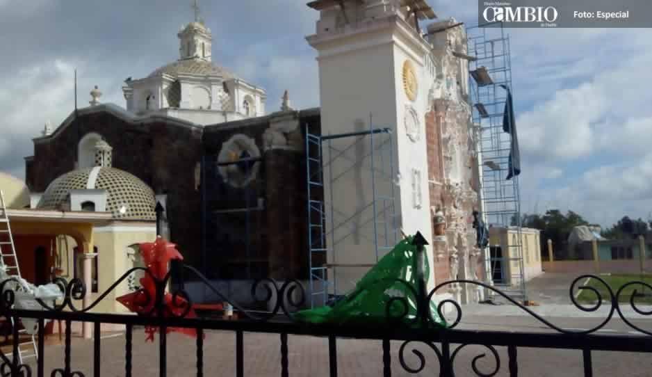 Iglesias de Chiautzingo ya fueron reparadas tras el sismo del 19-S