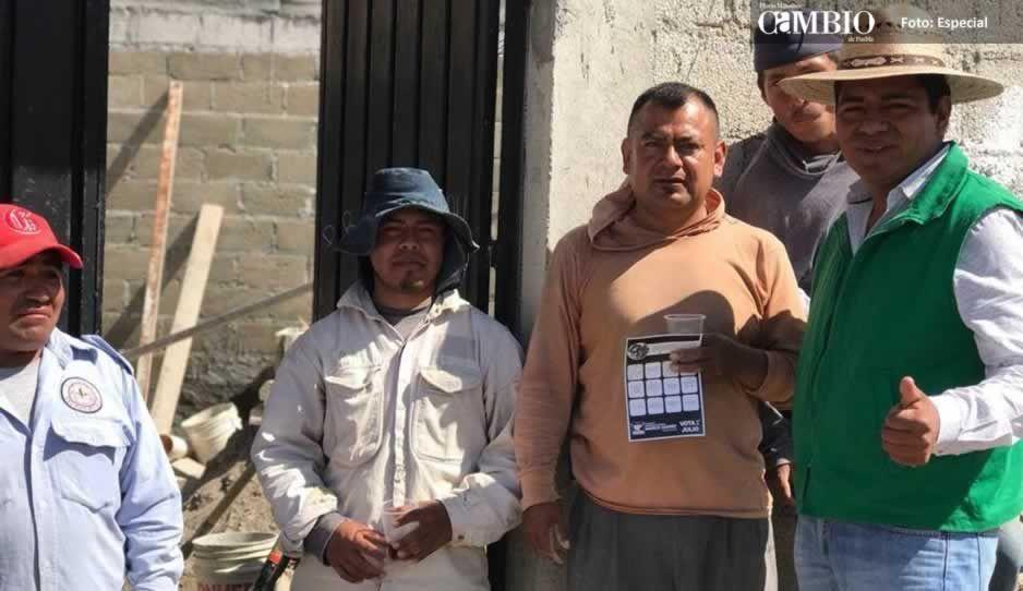 Marco Juárez llama a aspirantes a unirse a su candidatura por la presidencia de Ocoyucan