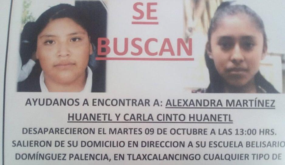 Desaparecen dos menores en Tlaxcalancingo ¡Ayúdanos a encontrarlas!