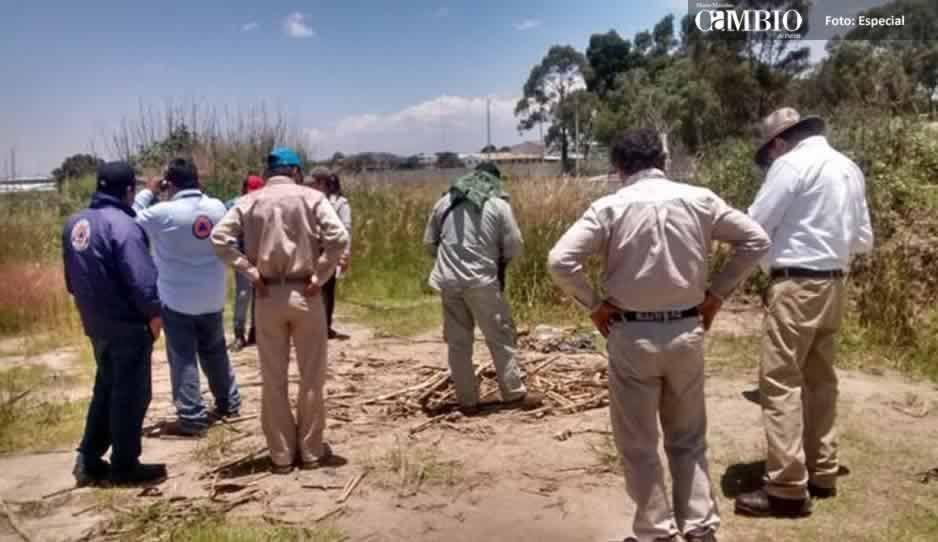 Toma clandestina provoca fuga de gas LP en Amozoc