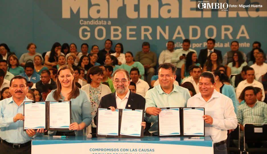 Nueva Alianza se suma a la campaña de Martha Erika
