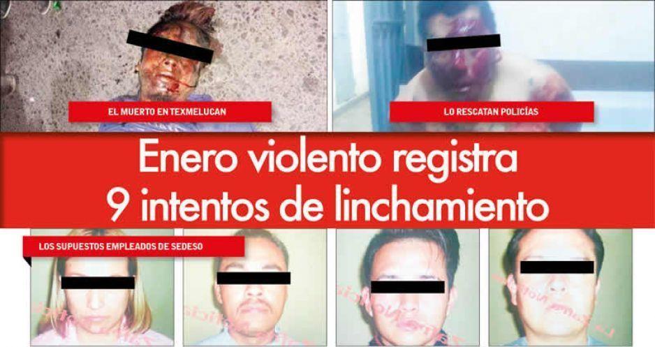 Enero violento registra 9 intentos de linchamiento