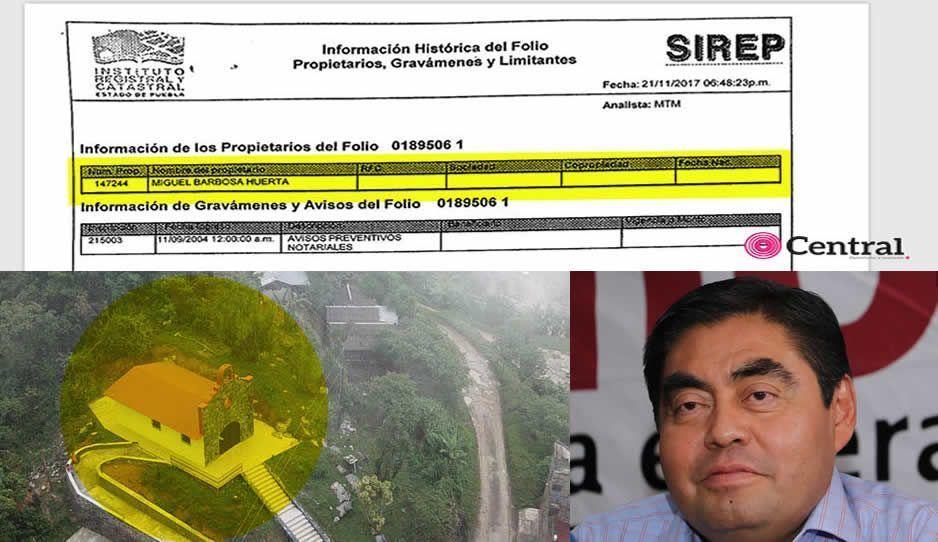 Otra mentira de Barbosa: el ranchote de Zoquitlán sí está a su nombre y no al de su mamá