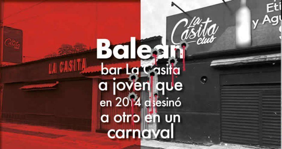 Balean en bar La Casita a joven que en 2014 asesinó a otro en un carnaval
