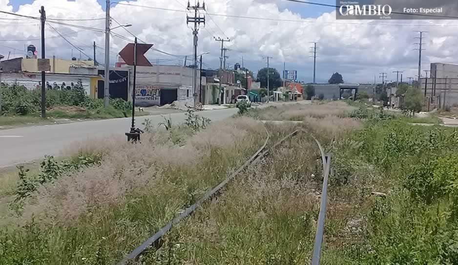 Pobladores de Moyotzingo son amenazados por no dejar pasar el tren