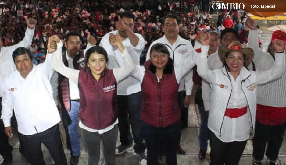 Morena lleva la delantera en San Lorenzo Chiautzingo
