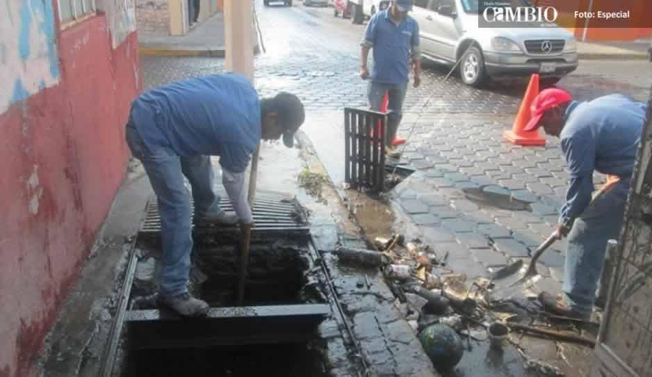 Basura y desechos en vía pública, principal causa de inundaciones en Atlixco