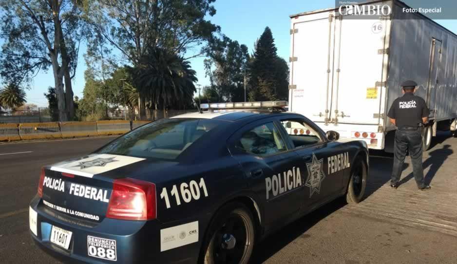 Policía Federal recupera en Tlahuapan unidad con reporte de robo