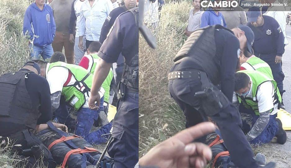 Accidente en Tochtepec evidencia paramédicos pirata de SUMA: entraron con palancazo