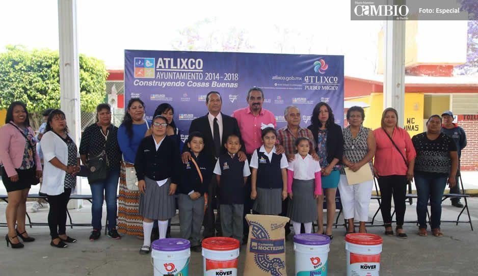 José Luis Galeazzi entrega drenaje en Tejaluca y rehabilitación de la primaria Isaac Ochoterena