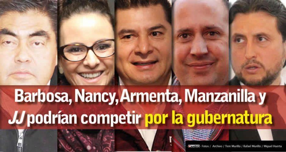 Barbosa, Nancy, Armenta, Manzanilla y JJ podrían competir por la gubernatura