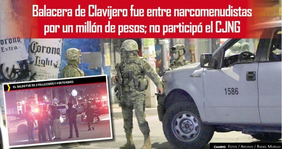 Balacera de Clavijero fue entre narcomenudistas por un millón de pesos; no participó el CJNG