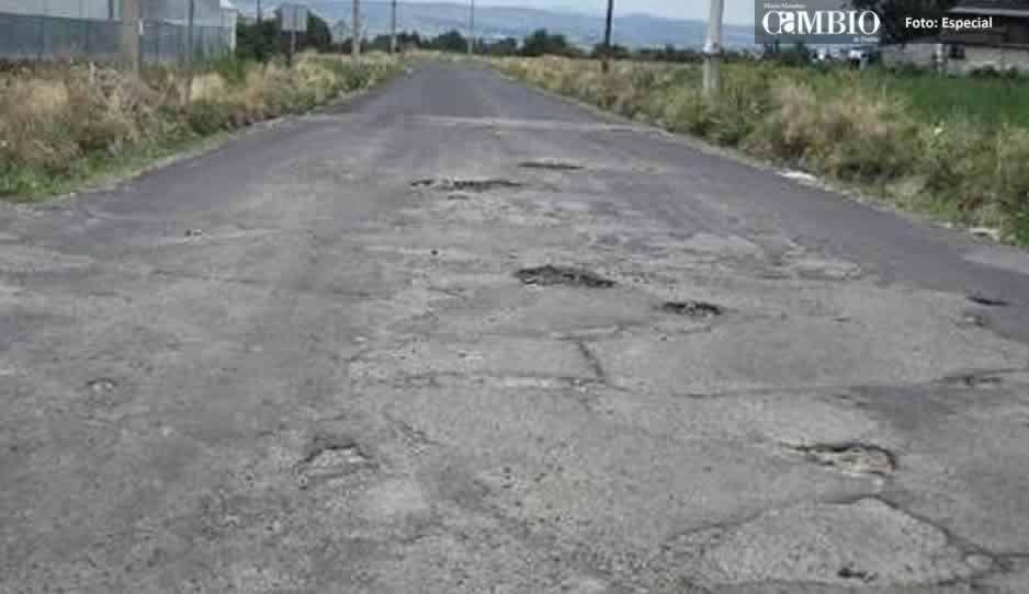 Rutas de evacuación en malas condiciones en Chiautzingo y Huejotzingo