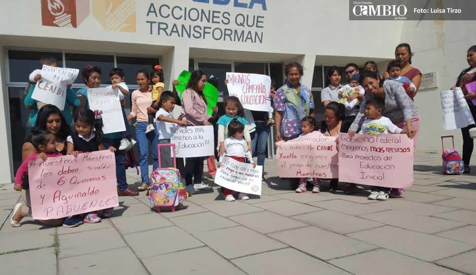 Cendi de Xoxtla puede cerrar por falta de dinero: padres de familia