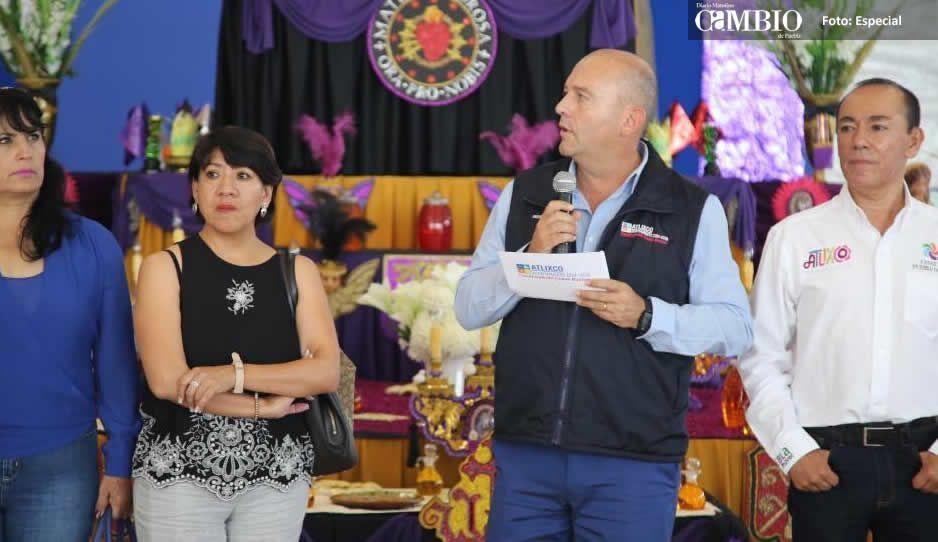 Galeazzi Berra inaugura actividades de Semana Santa en Atlixco