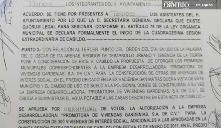 Ayuntamiento de Amozoc desmiente entrega de permisos a fraccionamiento en Buenavista