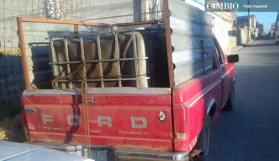 Ejército Mexicano asegura tres unidades ligadas al robo de combustible en Tlalancaleca