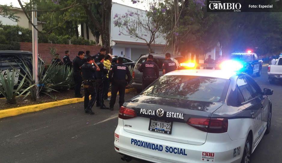 Balacera afuera de la casa de Moreno Valle; detienen a tres ladrones (FOTOS)