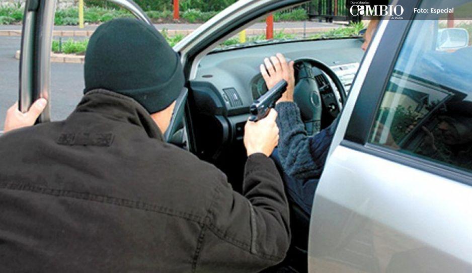 Atracos robos de vehículos y balaceras en Huejotzingo este fin de semana