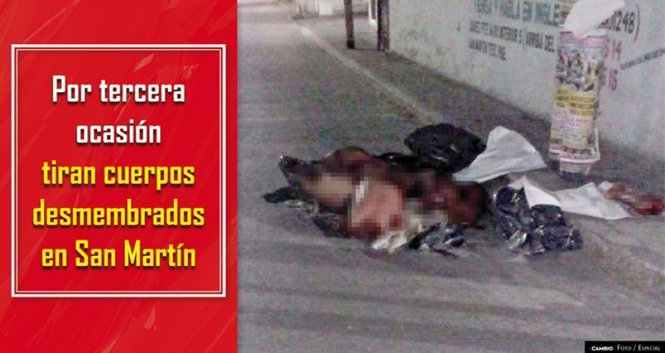Encuentran cadáveres embolsados en San Martín Texmelucan