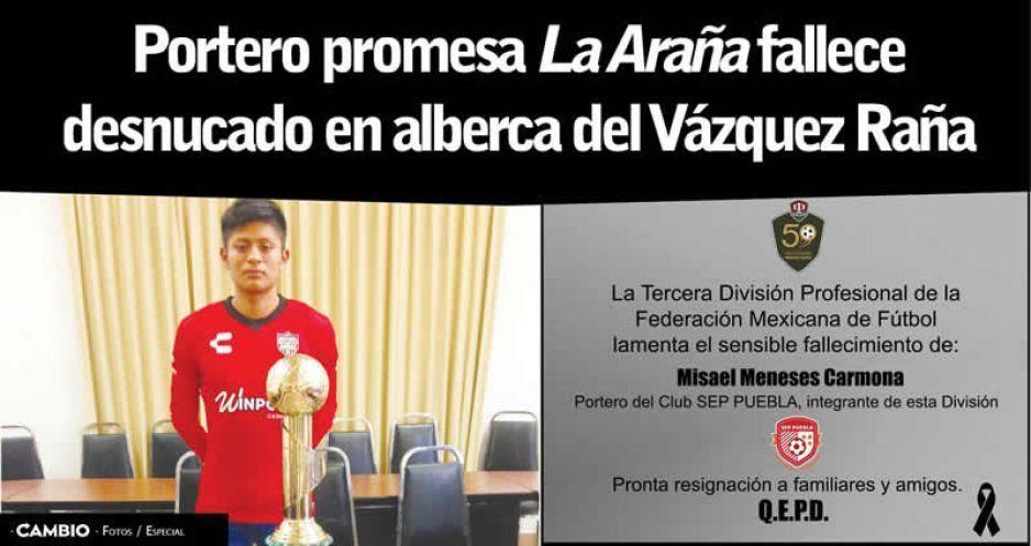 Tragedia en el futbol mexicano: fallece portero ahogado en una alberca