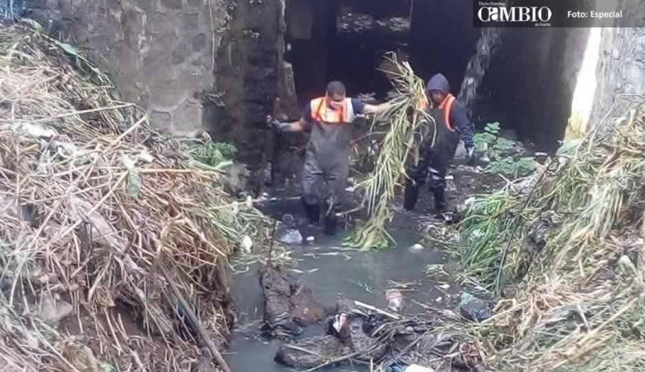 Se desborda el río Cantarranas en Atlixco