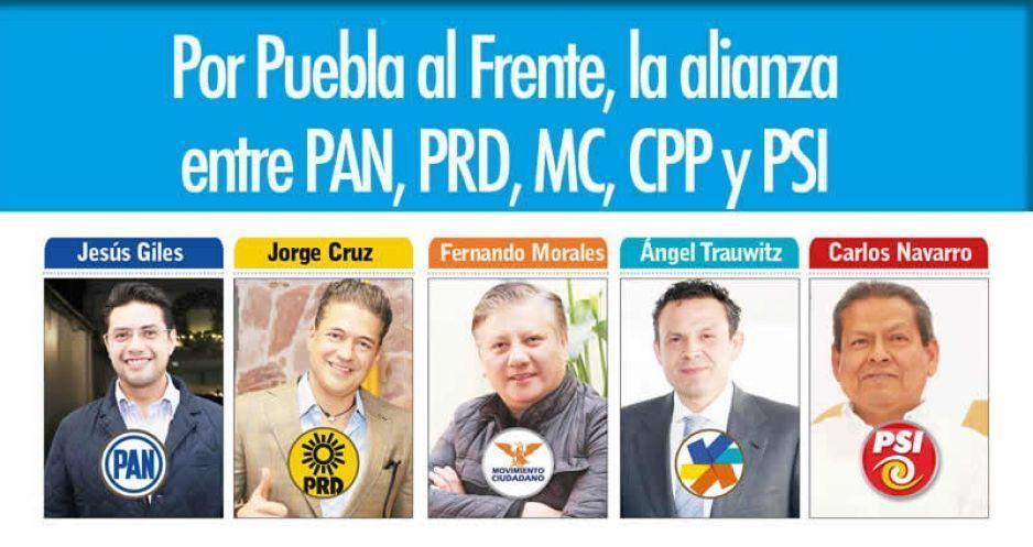 Conforman megacoalición Por Puebla al Frente: irán juntos en 22 distritos locales