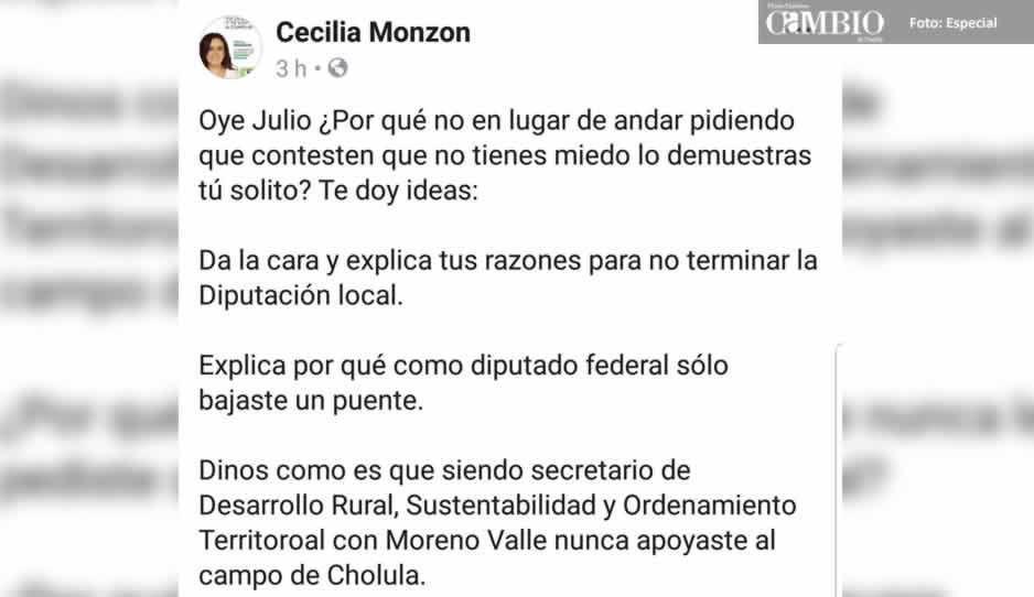 Monzón reta a Lorenzini a que dé explicación de su trabajo gris como diputado local, federal y secretario de estado