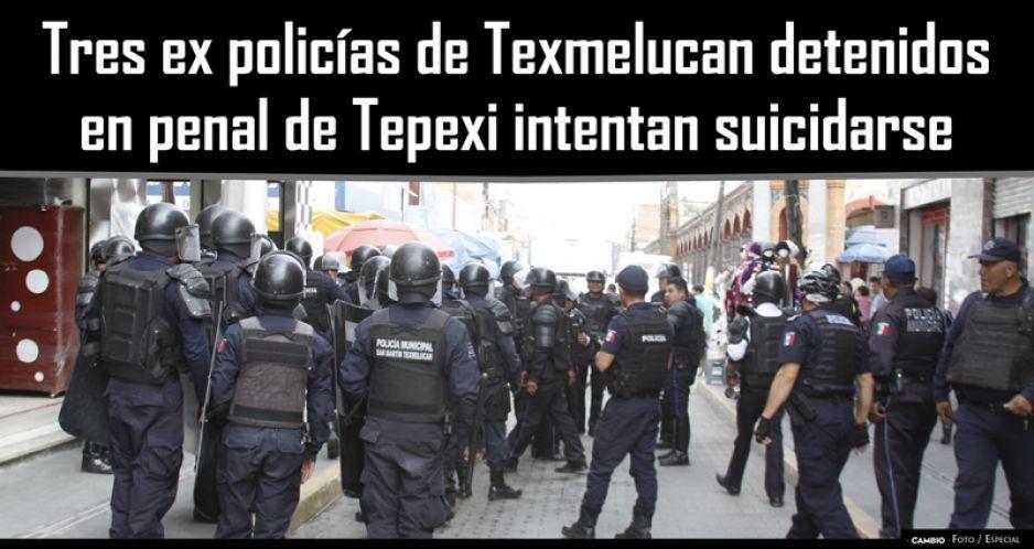 Tres ex policías de Texmelucan detenidos en penal de Tepexi intentan suicidarse