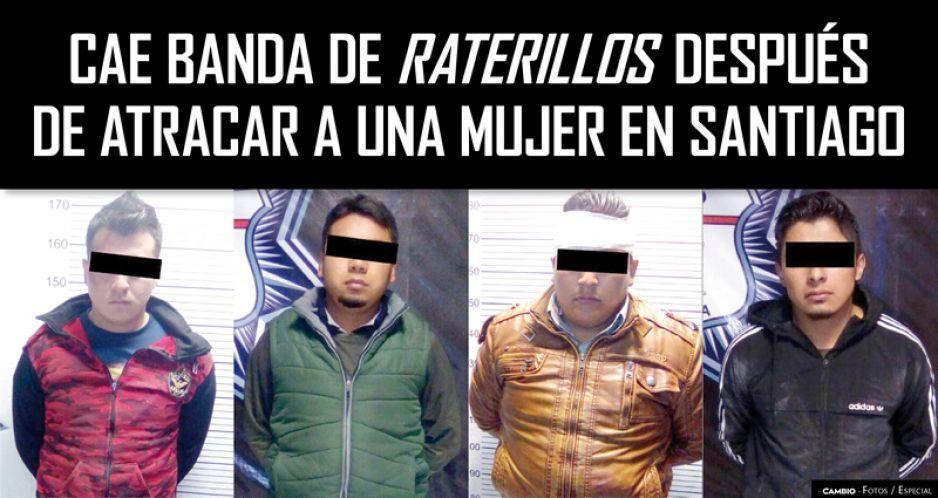 Cae banda de raterillos después de atracar a una mujer en Santiago