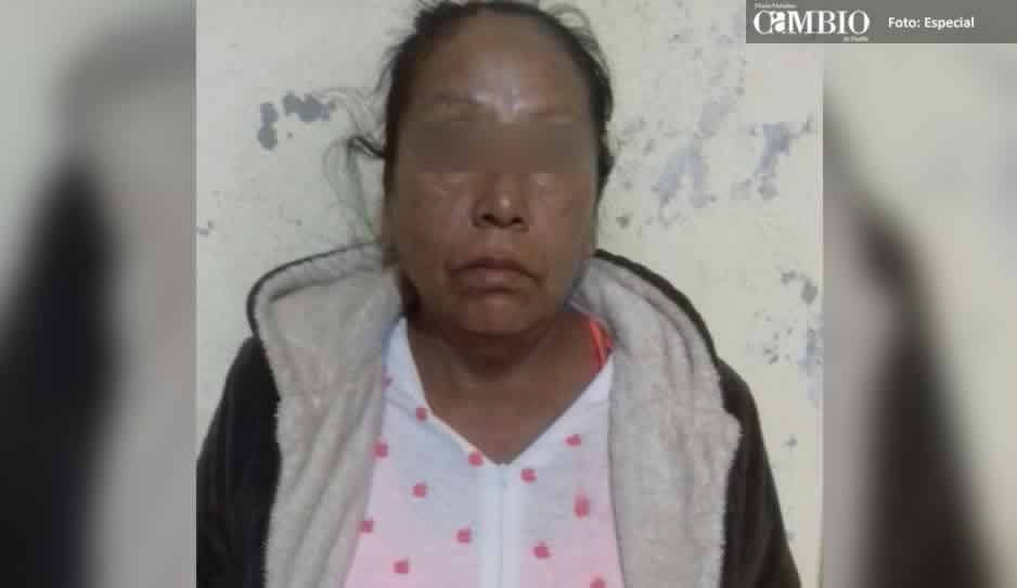 La detienen por robar ocho kilos de cecina en Izúcar