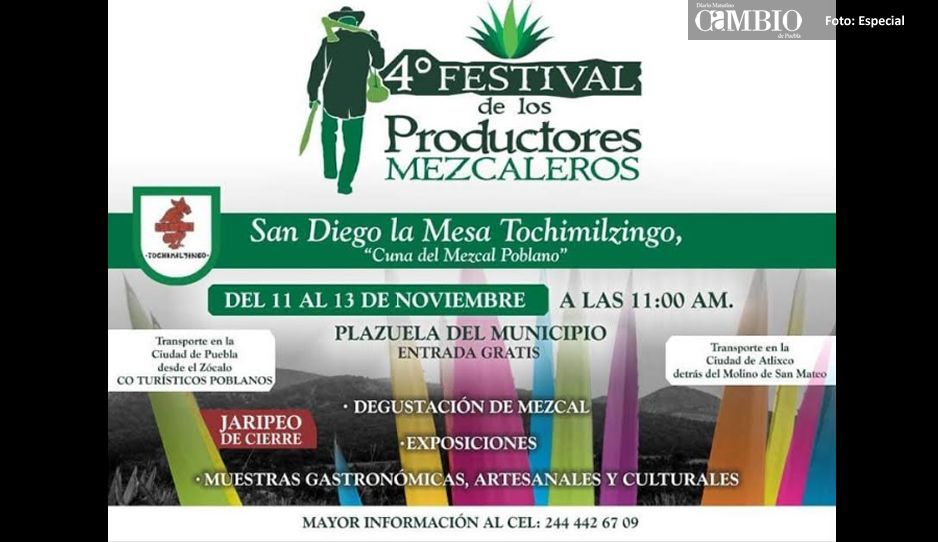 Atenta invitación a la Feria del Mezcal 2018 en Atlixco