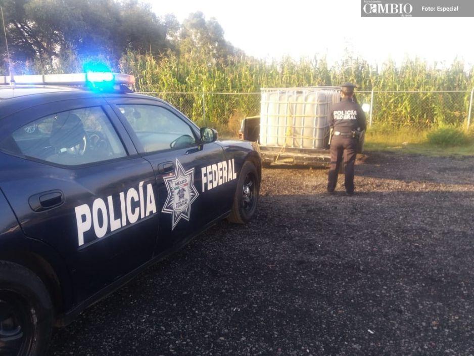 PF asegura dos unidades huachicoleras en Huejotzingo y Tlalancaleca