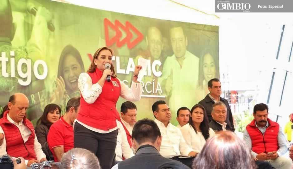 Durante su visita en Amozoc, Ruiz Massiu reconoce que el PRI ha fallado