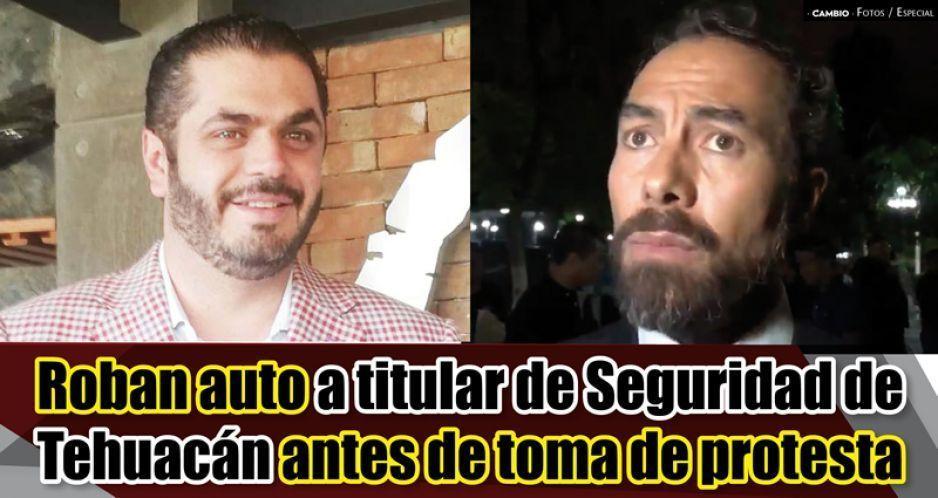 Increíble, pero cierto: le roban el coche al nuevo secretario de Seguridad en Tehuacán