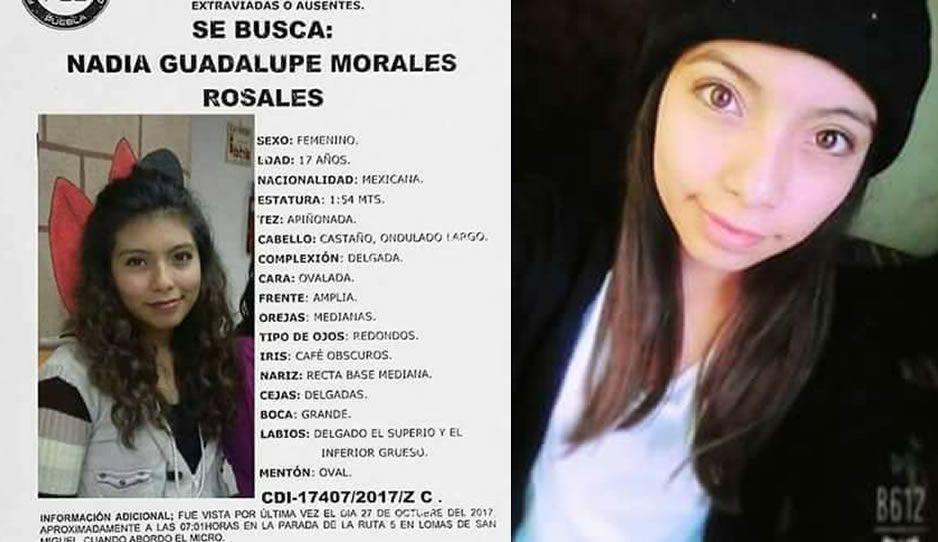 Ayúdanos a encontrar a Nadia Guadalupe de 17 años, desaparecida en Puebla