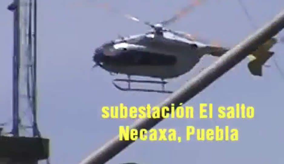 Monitoreo de helicóptero de la CFE provoca temor en Necaxa, pobladores acusan que son maniobras peligrosas