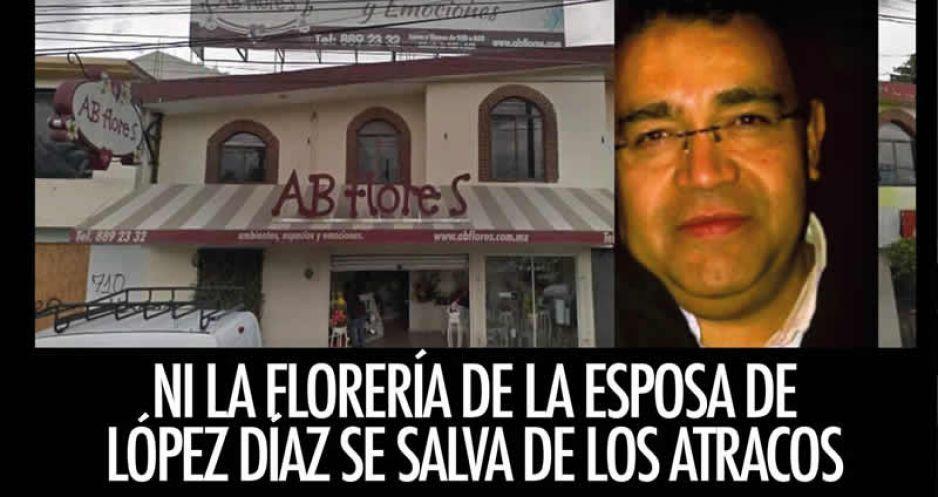 Ni la florería de la esposa de López Díaz se salva de los atracos