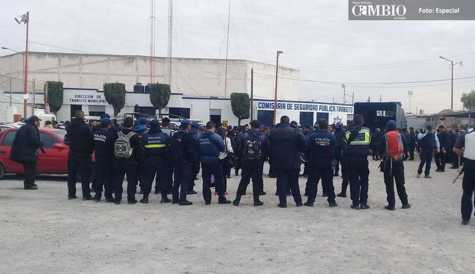 124 policías cachirules de Texmelucan son vinculados a proceso