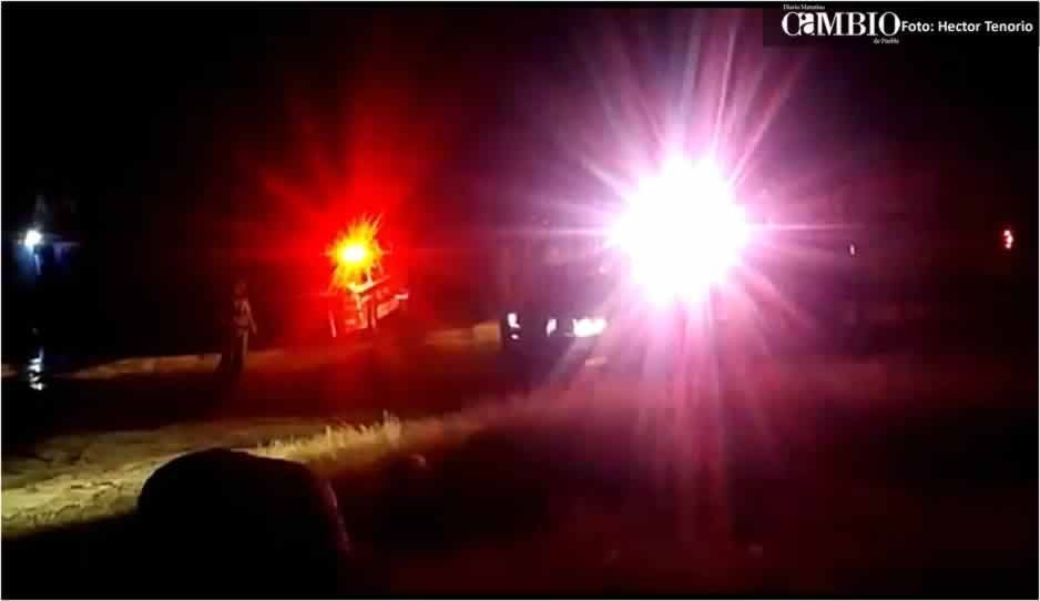 Fuga de combustible genera rapiña en Texmelucan