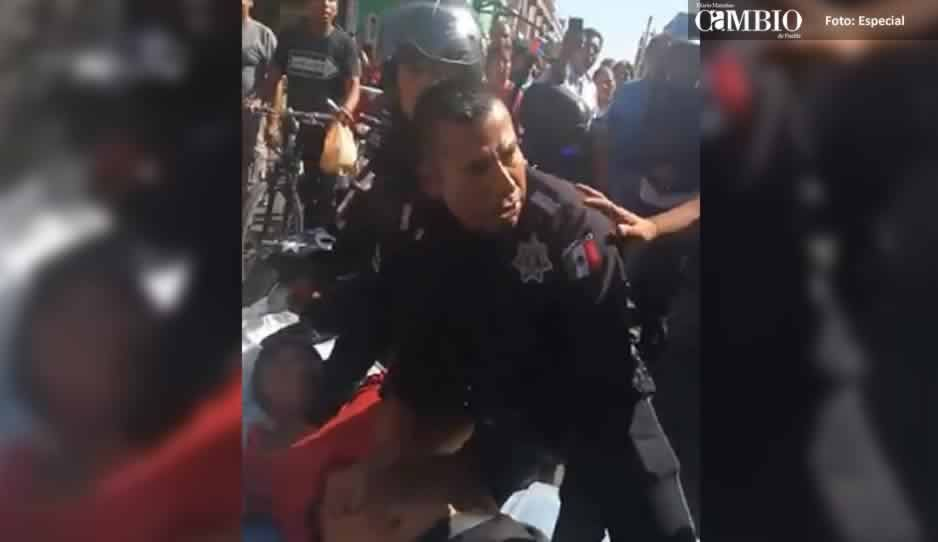 Asegura San Pedro que detención de estibadores de Elektra, fue por agresión a elemento de vialidad