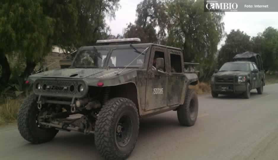 Ejército Mexicano instala campamento en el paraje Cuatro Caminos en Tlalancaleca