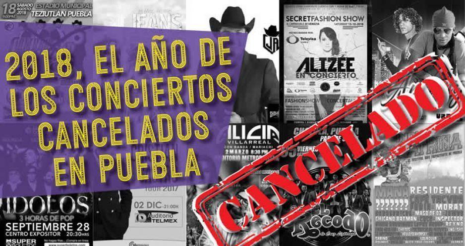 2018, año de los conciertos cancelados en Puebla