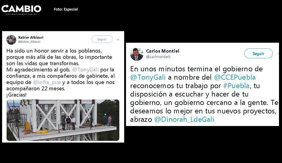 Albizuri, Sánchez Juárez, Carlos Montiel y otros funcionarios se despiden de Tony Gali