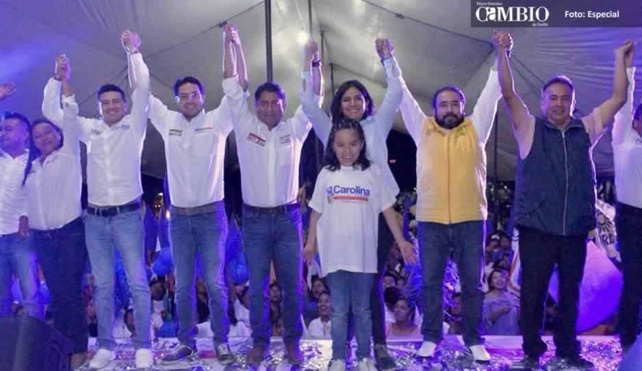 Gran arranque de campaña de Carolina Aguilar en Tochtepec